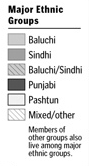 pak ethnic breakdown legend