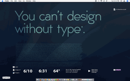 can't design without type