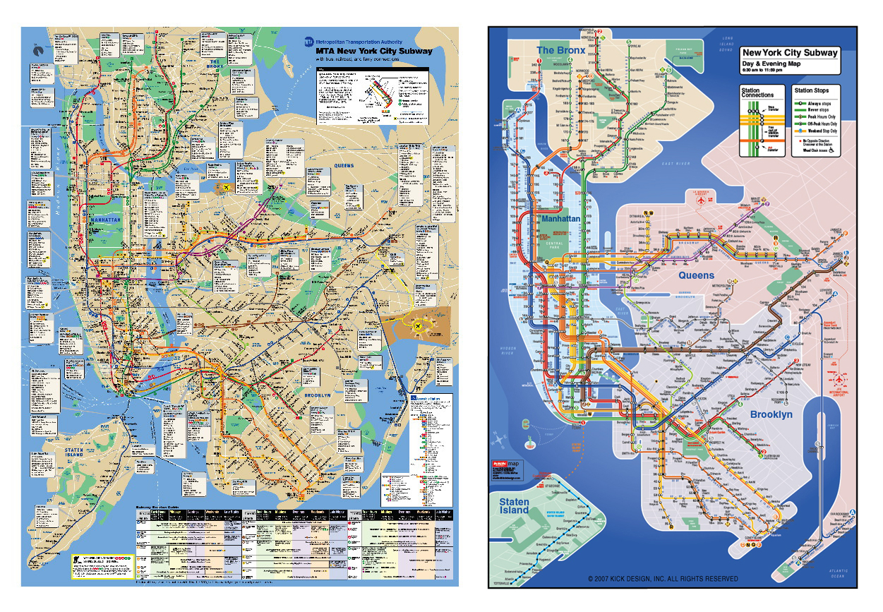 ny metro map comparions