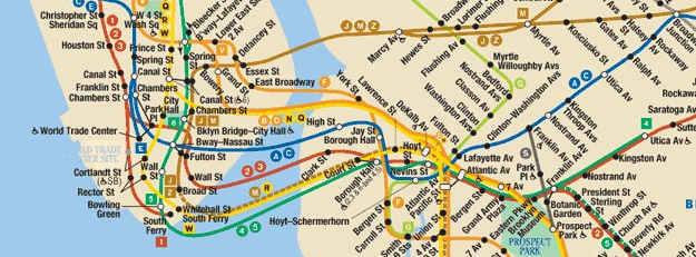 new york subway map slice