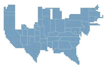 ny time cartogram example