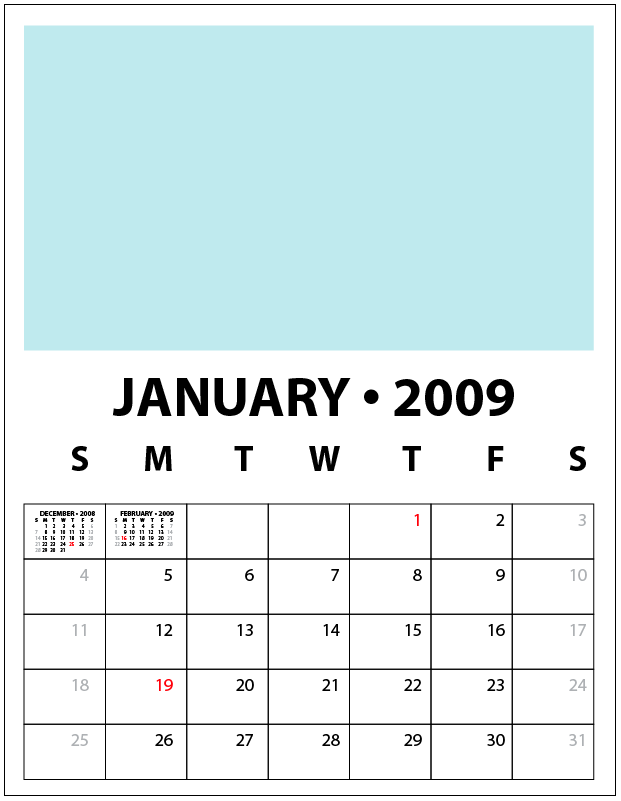 2009 calendar template kelso s corner for Make my own calendar template