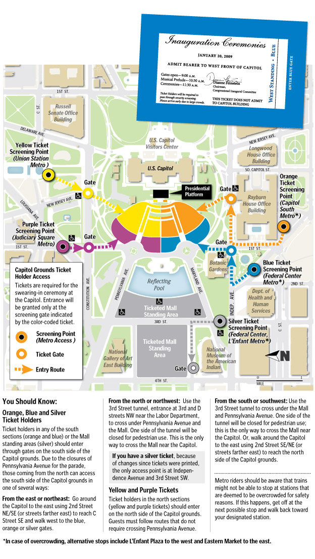 One Response To Map Obama Inauguration Ticket Holder Access Wash Post