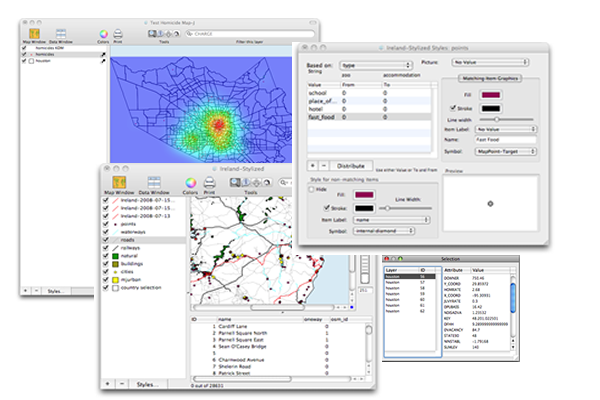 Screenshot Cartographica GIS