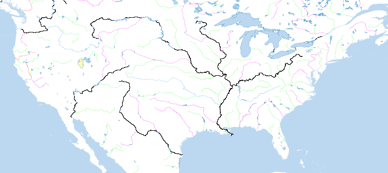 First Look At Natural Earth Vector Kelsos Corner - Rivers on the us map