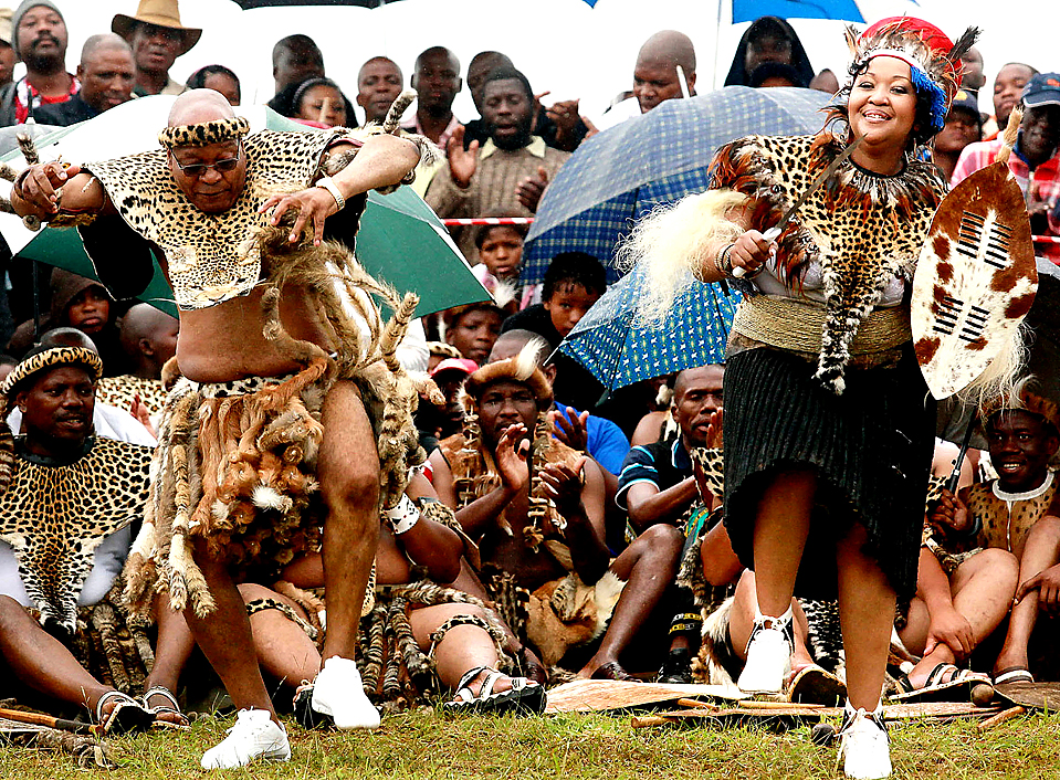 TRADITIONAL WEDDING South African President Jacob Zuma 67 left