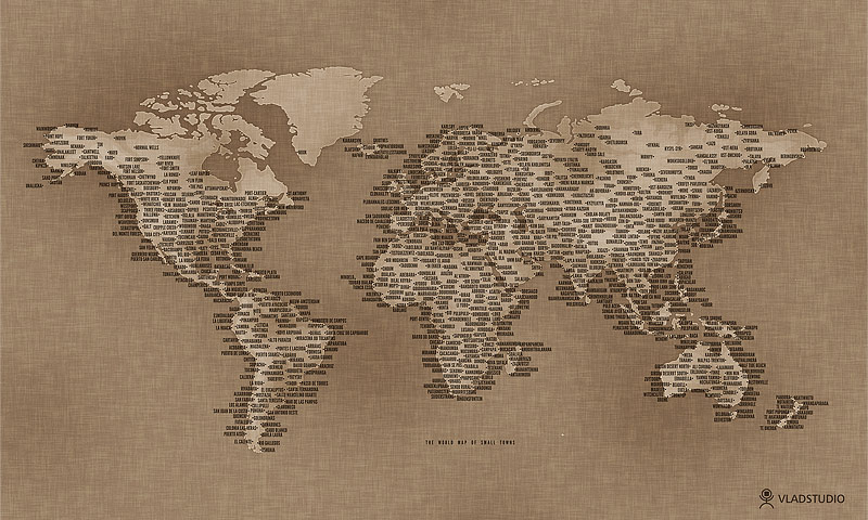 map of world wallpaper. The World Map of Small Towns