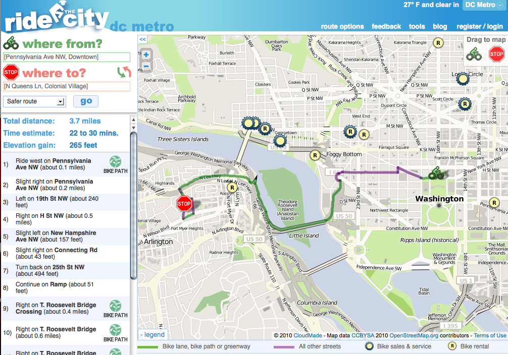 Bikes On Metro Dc tool considers bike paths