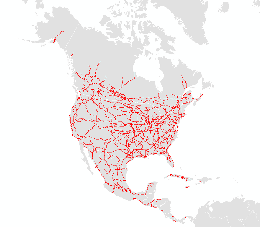 railroads Natural Earth – Map Us Railroads