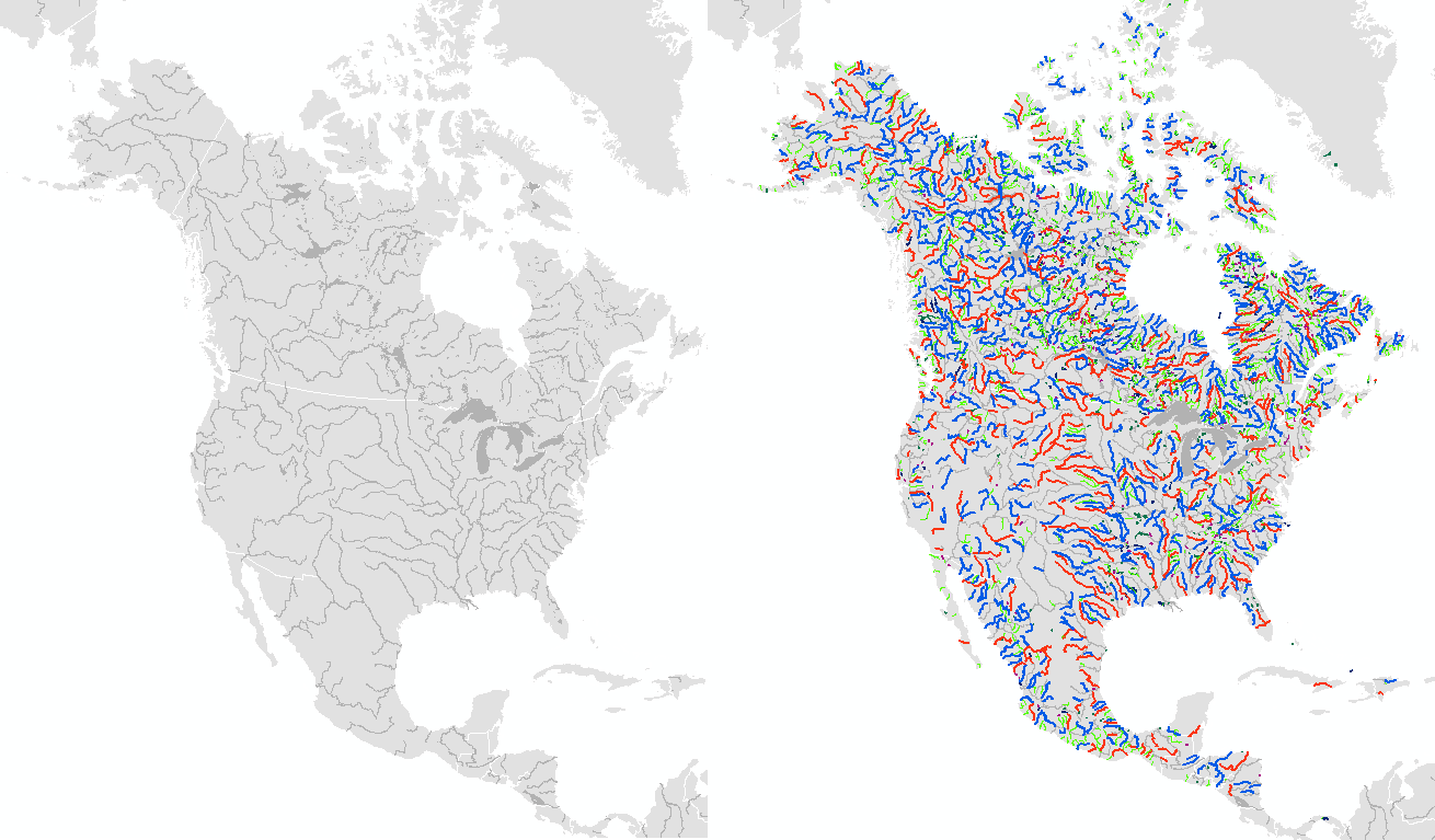 Rivers Natural Earth Shapefile Download Shp Data - Usa map with rivers and lakes